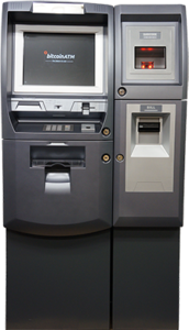 The Genesis1 Bitcoin ATM allows users to buy and sell Bitcoin and other cryptocurrencies. It is the top of the line BTCATM and considered by many to be the best in the world. Using one of these machines is very straightforward and requires SMS verification when using.