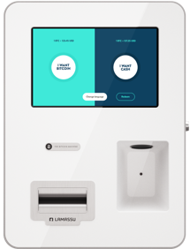 Using the Lamassu Bitcoin ATM is extremely easy to buy Bitcoin. The machine is compatible with all global fiat currencies, has a 10 inch display screen and has modular capability.