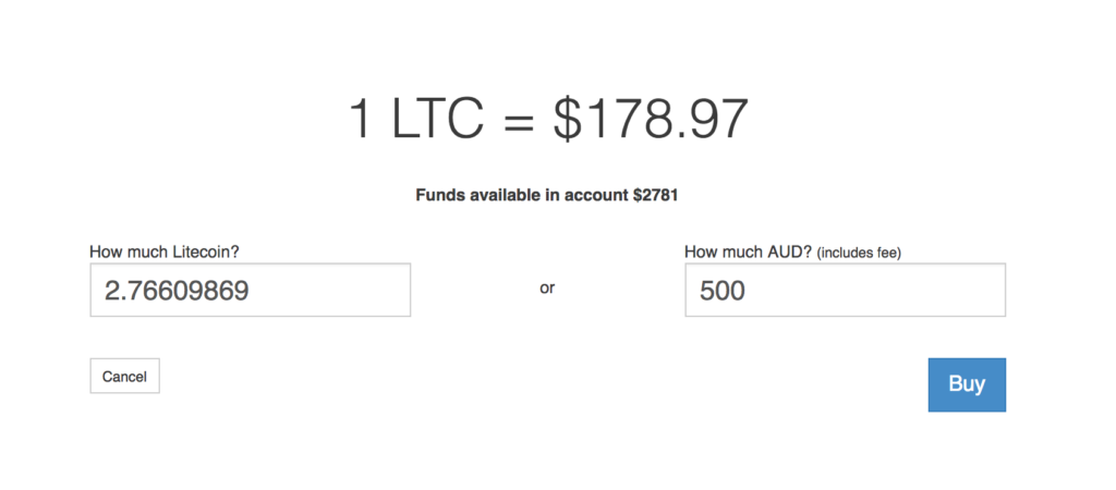 Purchasing Litecoin with Australian Dollars (AUD)
