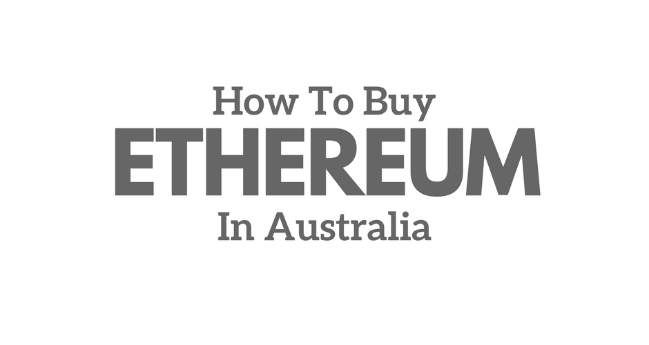 Buying ETH in Australia with AUD.