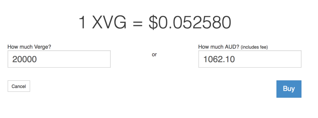 Purchasing XVG with Australian Dollars (AUD).