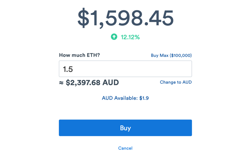 buying ethereum on coinspot